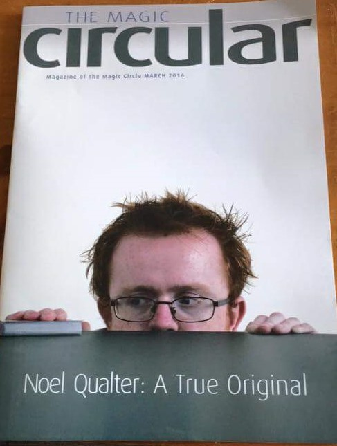 Cover if the the magic circular featuring noel qualter