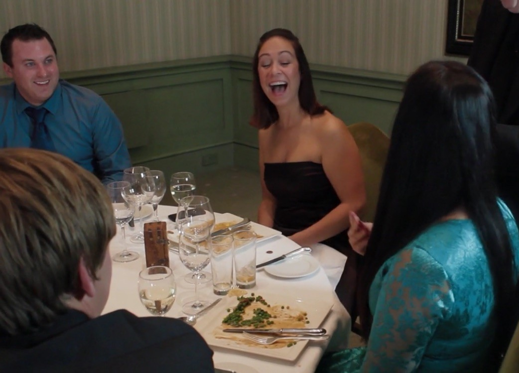 Reaction to table magician